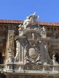 DETALJ AV KYRKAN FÖR SAN ISIDORO, LEON, SPANIEN, EUROPA Royaltyfri Foto