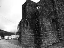 Detalj av kyrkan, Santa Maria de la Asuncià ³ n, i Puebla, Mexico Arkivfoton