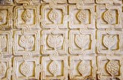 Detalj av lättnadsväggen med att snida för sten Fotografering för Bildbyråer