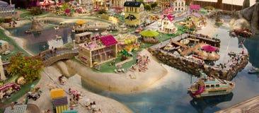 Detalj av Legoland i Billund, Danmark Fotografering för Bildbyråer