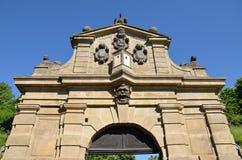 Detalj av Leopold Gate, Vysehrad Royaltyfri Bild