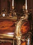 Detalj av möblemang på den Versailles slotten, Frankrike Royaltyfria Foton