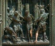 Detalj av Milan Cathedral eller Duomodi Milano i Milan, Italien Cl Arkivbild