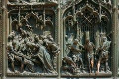Detalj av Milan Cathedral eller Duomodi Milano i Milan, Italien Cl Fotografering för Bildbyråer