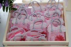 Detalj av minnen i barns parti, baby showerflicka arkivbilder