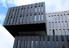 Detalj av modern futuristisk arkitekturbyggnad royaltyfri fotografi