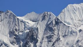Detalj av monteringen Gangchenpo, Nepal Plats i Langtangen Nationa Royaltyfri Fotografi