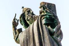 Detalj av monumentet till Gregory av Nin i splittring, Kroatien royaltyfri foto