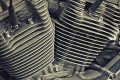 Detalj av motorcykelmotorn royaltyfri foto