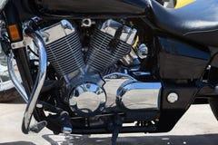 Detalj av motorcykeln - motor Arkivbild
