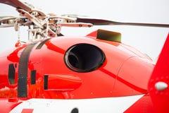 Detalj av motorn för helikopter` s Arkivfoton