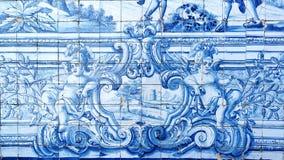 Detalj av några azulejos Royaltyfria Bilder