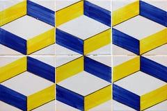 Detalj av några portugistegelplattor (azulejos) royaltyfri bild