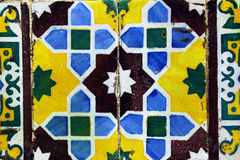 Detalj av några typiska portugisiska tegelplattor Royaltyfri Fotografi