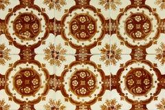 Detalj av några typiska portugisiska tegelplattor Royaltyfria Bilder