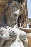 Detalj av Neptunspringbrunnen i bolognaen Fotografering för Bildbyråer