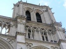 Detalj av Notre Dame Cathedral i Paris, Frankrike Arkivfoton