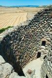 Detalj av nuraghien av Barumini i Sardinia Italien royaltyfria bilder