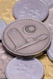 Detalj av olika mynt för malaysisk ringgit Royaltyfri Fotografi