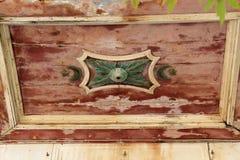 Detalj av ottomansymboler på tak av moskén på den grekiska ön av Kos Royaltyfria Foton