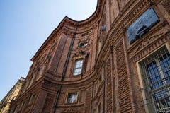 Detalj av Palazzo Carignano, Turin, Italien Royaltyfria Bilder