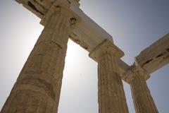 Detalj av parthenonen, Aten, Grekland Arkivbilder