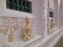 Detalj av pavillionen av den thailändska templet, Songkhla Royaltyfri Foto