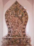 Detalj av pavillionen av den thailändska templet, Songkhla Royaltyfri Bild