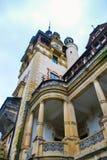 Detalj av Peles Castel i Rumänien arkivbild