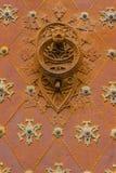 Detalj av porten av domkyrkan av Tarragona i Spanien Royaltyfri Bild