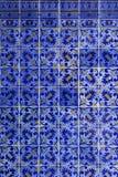 Detalj av portugisiska tegelplattor Royaltyfri Bild