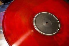 Detalj av röd vinyl utan logoer royaltyfri bild