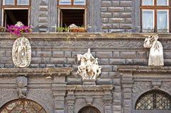 Detalj av renässansarkitektur royaltyfria bilder
