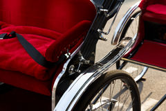 Detalj av rickshawen Arkivfoto