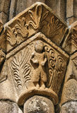 Detalj av romanesquekloster av Paco de Sousa i Penafiel Royaltyfri Foto