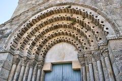 Detalj av romanesquekloster av Sao Pedro de Ferreira Fotografering för Bildbyråer