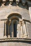 Detalj av romanesquekloster av Sao Pedro de Ferreira Arkivbild