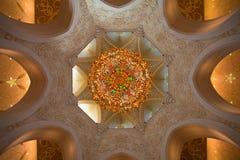Detalj av sheikhen Zayed Moské i Abu Dhabi Royaltyfria Foton