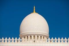 Detalj av sheikhen Zayed Moské i Abu Dhabi Arkivfoto