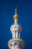 Detalj av sheikhen Zayed Moské i Abu Dhabi Arkivbilder
