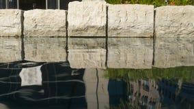Detalj av simbassängen med rent vatten Fotografering för Bildbyråer