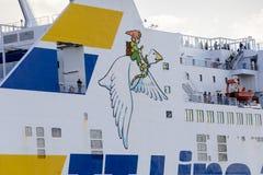 Detalj av SkÃ¥ne och den flyggåsNils Holgersson passageraren Arkivbilder