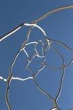 Detalj av skulptur som göras med rostfritt stål Royaltyfri Bild
