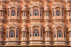 Detalj av slotten av vindar, Jaipur royaltyfri fotografi