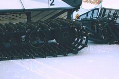 Detalj av snögroomeren arkivfoto