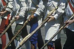 Detalj av soldater med muskets Royaltyfri Bild