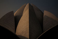 Detalj av soluppgång Lotus Temple, New Delhi Royaltyfria Foton