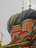 Detalj av St Basil& x27; s-domkyrka i Moskva Ryssland arkivbild