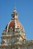 Detalj av stadshuset av La Coruna Arkivfoton