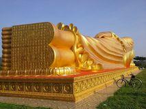 Detalj av stora Bhuddha i Songkhla, Thailand Arkivbild